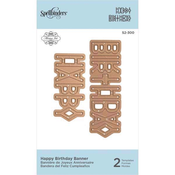 Spellbinders Die -  D-Lites / Happy Birthday