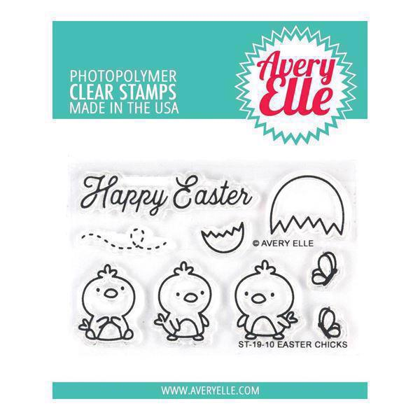 Avery Elle Clear Stamp - Easter Chicks