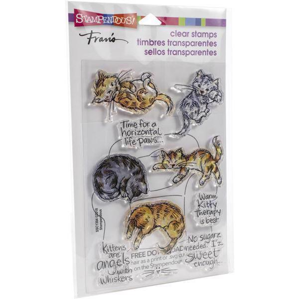 Stampendous Clear Stamp Set - Kitty Therapy