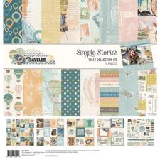 "Simple Stories Paper Pack 12x12"" Collection - Vintage Traveler"