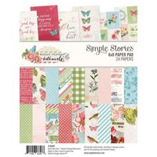 "Simple Stories Paper Pad 6x8"" - Vintage Botanic"