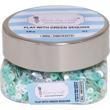 Dress My Crafts Sequins - Play with Green