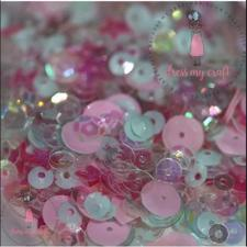 Dress My Crafts Sequins - Pink Soda