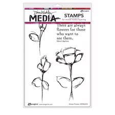 Dina Wakley Cling Rubber Stamp Set - Allways Flowers