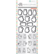 Mama Elephant / Hampton Art Clear Stamp & Die Set - Mini Bunny Agenda