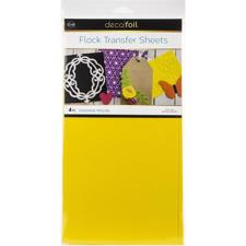 iCraft Deco Foil - Flock Transfer Sheets / Sun Yellow