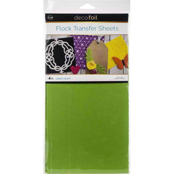 iCraft Deco Foil - Flock Transfer Sheets / Green Envy
