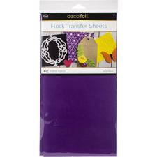 iCraft Deco Foil - Flock Transfer Sheets / Purple Punch