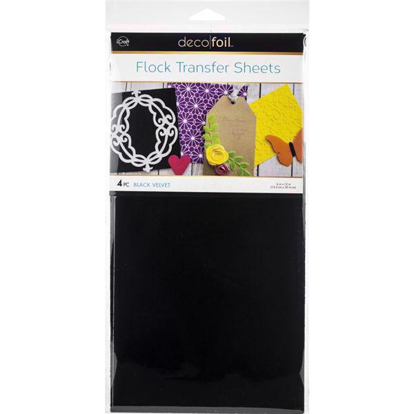 iCraft Deco Foil - Flock Transfer Sheets / Black Velvet