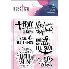 Creative Devotion Clear Acrylic Stamps - God is Love
