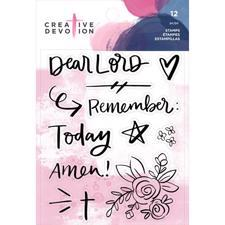Creative Devotion Clear Acrylic Stamps - Remember