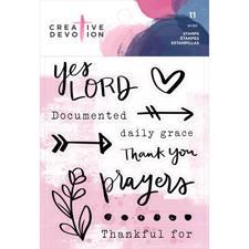 Creative Devotion Clear Acrylic Stamps - Prayers