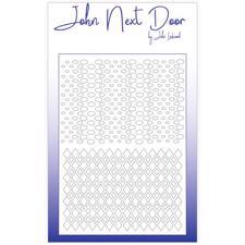 John Next Door Stencil - #002 / Bubbles & Harlequin
