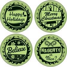 Inkadinkado Cling Stamp Set - Bottlecaps Holiday