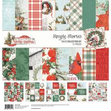 "Simple Stories Paper Pack 12x12"" Collection - Country Christmas"