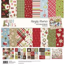 "Simple Stories Paper Pack 12x12"" Collection - Holly Jolly"