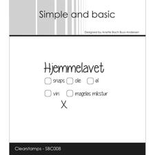 Simple and Basic Clear Stamp - Hjemmelavet