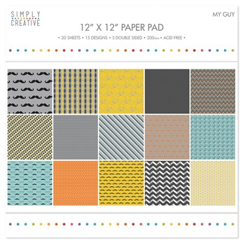 "Simply Creative Paper Pad 12x12"" - My Guy"