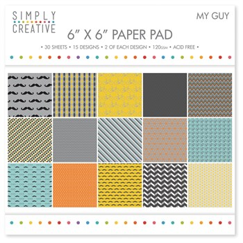 "Simply Creative Paper Pad 6x6"" - My Guy"