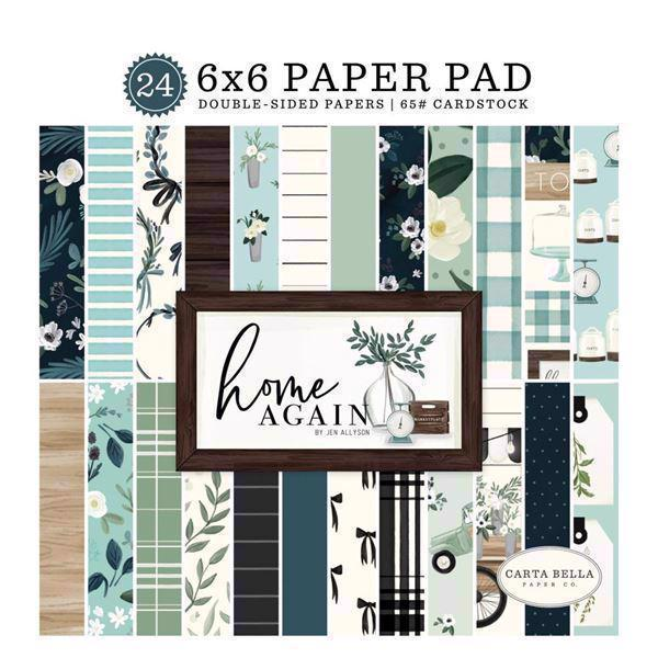 "Carta Bella Paper Pad 6x6"" - Home Again"