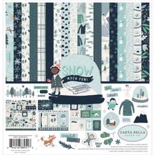 "Carta Bella Scrapbook Paper Collection Kit 12x12"" - Snow Much Fun"