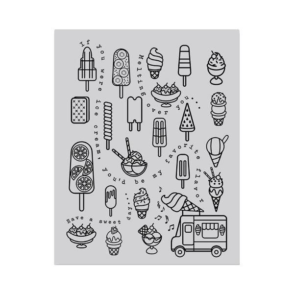 Hero Arts Cling Stamp - Ice Cream