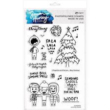 Simon Hurley Clear Stamp Set - Caroling