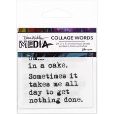 Dina Wakley Media - Collage Word Pack #3 (in a cake)