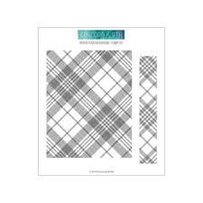 Concord & 9th Stamp - Woven Plaid Background