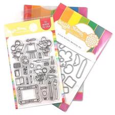 Waffle Flower Clear Stamp & Die Combo - Little Artists