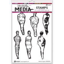 Dina Wakley Cling Rubber Stamp Set - Abstract Figures