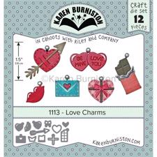 Karen Burniston Die - Love Charms