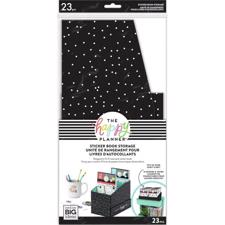Happy Planner - Sticker Storage Box / Black w.White Dots