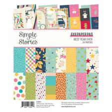 "Simple Stories Paper Pad 6x8"" - Best Year Ever"