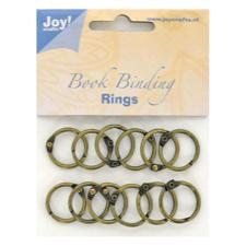 "Joy Book Rings - Antik Bronze ""20 mm""  12 stk."