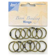 "Joy Book Rings - Antik Bronze ""25 mm"" - 12 stk."