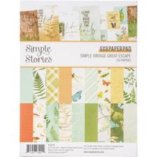 "Simple Stories Paper Pad 6x8"" - Simple Vintage Great Escape"