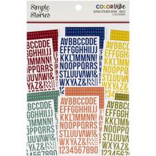 Simple Stories Color Vibe - Alpha Sticker Book / Bold