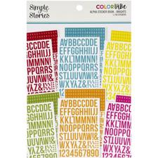 Simple Stories Color Vibe - Alpha Sticker Book / Brights