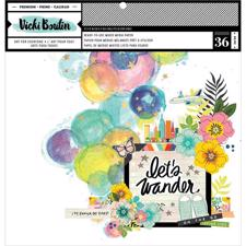 "Vicki Boutin / Let's Wander - Mixed Media Pad 12x12"" (36 ark)"