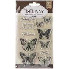 Clear Stamp Set - Bo Bunny / Beautiful Butterflies