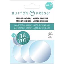 WRMK Button Press - Adhesive Mirrors (large) (3 sæt)