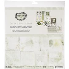 "49 and Market Collection Pack 12x12"" - Vintage Artistry Sage"
