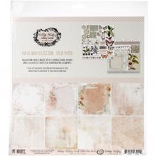"49 and Market Collection Pack 12x12"" - Vintage Artistry Coral"