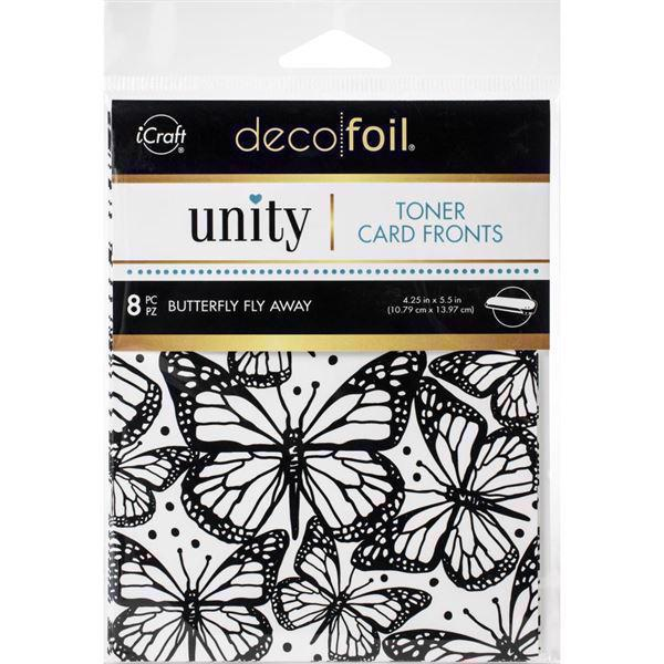 Deco Foil Toner Card Fronts - Butterfly Fly Away
