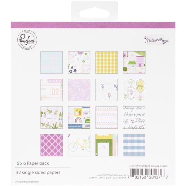 "Pinkfresh Studio Paper Pack 6x6"" - Noteworthy"