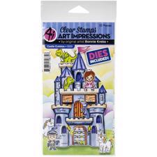 Art Impressions Clear Stamp & Die Set - Castle Cubbies