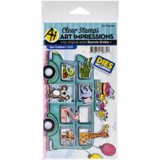 Art Impressions Clear Stamp & Die Set - Bus Cubbies