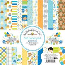 "Doodlebug Design Paper Pad 6x6"" - Party Time"