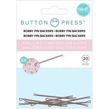 WRMK Button Press - Bobby Pin Backers (small) (5 sæt)
